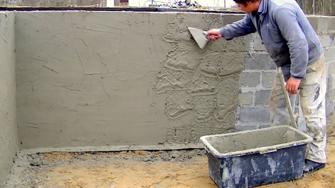 Plaster Building Building Industry Construction Of A Family House Part 5 Full Hd Plastering Insulation