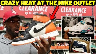 NIKE OUTLET HAD ALOT OF HEAT!! Did I  Find Jordan 1 SBB?