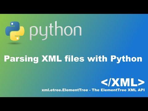 Parsing XML files with Python xml.etree.ElementTree - YouTube