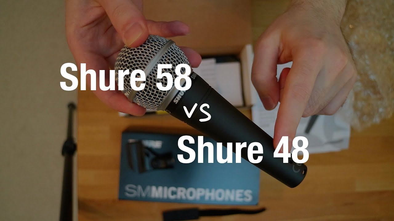 shure sm48 vs shure sm58 dynamic microphone comparison youtube. Black Bedroom Furniture Sets. Home Design Ideas