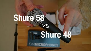 Shure SM48 vs Shure SM58 - Dynamic Microphone Comparison