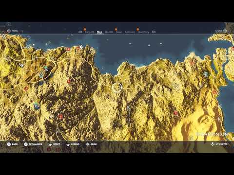 Assassin's Creed Origins 100% Full world Map - LOCATIONS of Everything