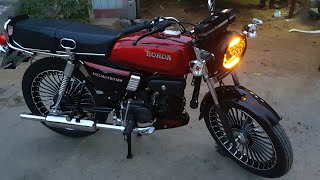 Honda CD100SS To PaintingFromCm RX100 Special Edition.