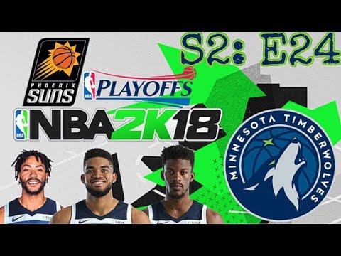 NBA 2K18 MINNESOTA TIMBERWOLVES- 2021 PLAYOFFS ROUND 2 VS PHOENIX SUNS