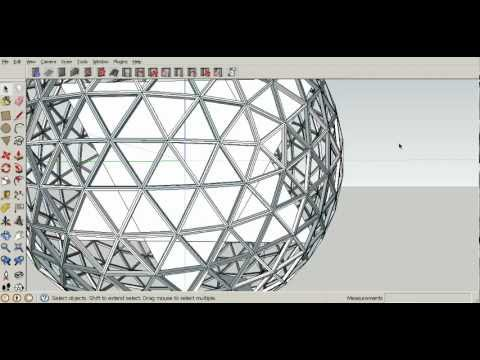 how to make elliptical dome in sketchup