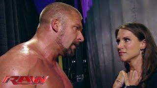 Stephanie begs Triple H not to hurt Mr. McMahon: Raw, June 10, 2013