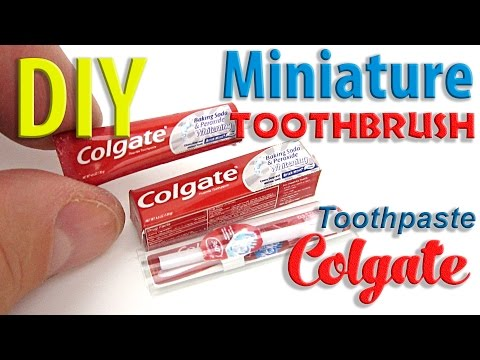 DIY Miniature toothbrush and toothpaste Colgate