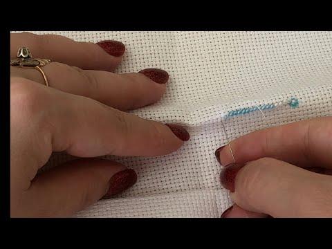 Как я подготавливаю канву к вышивке бисером и вышиваю на ней