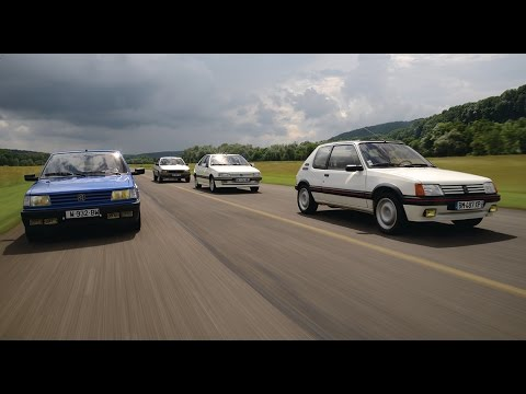 peugeot 205 gti 309 gti 405 mi16 505 turbo comparatif video so show youtube. Black Bedroom Furniture Sets. Home Design Ideas