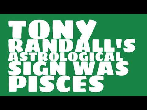 What was Tony Randall's birthday?