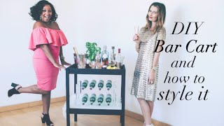 {diy} Bar Cart + How To Style It