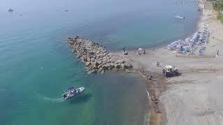 Riprese con drone sul mare di Amendolara CS