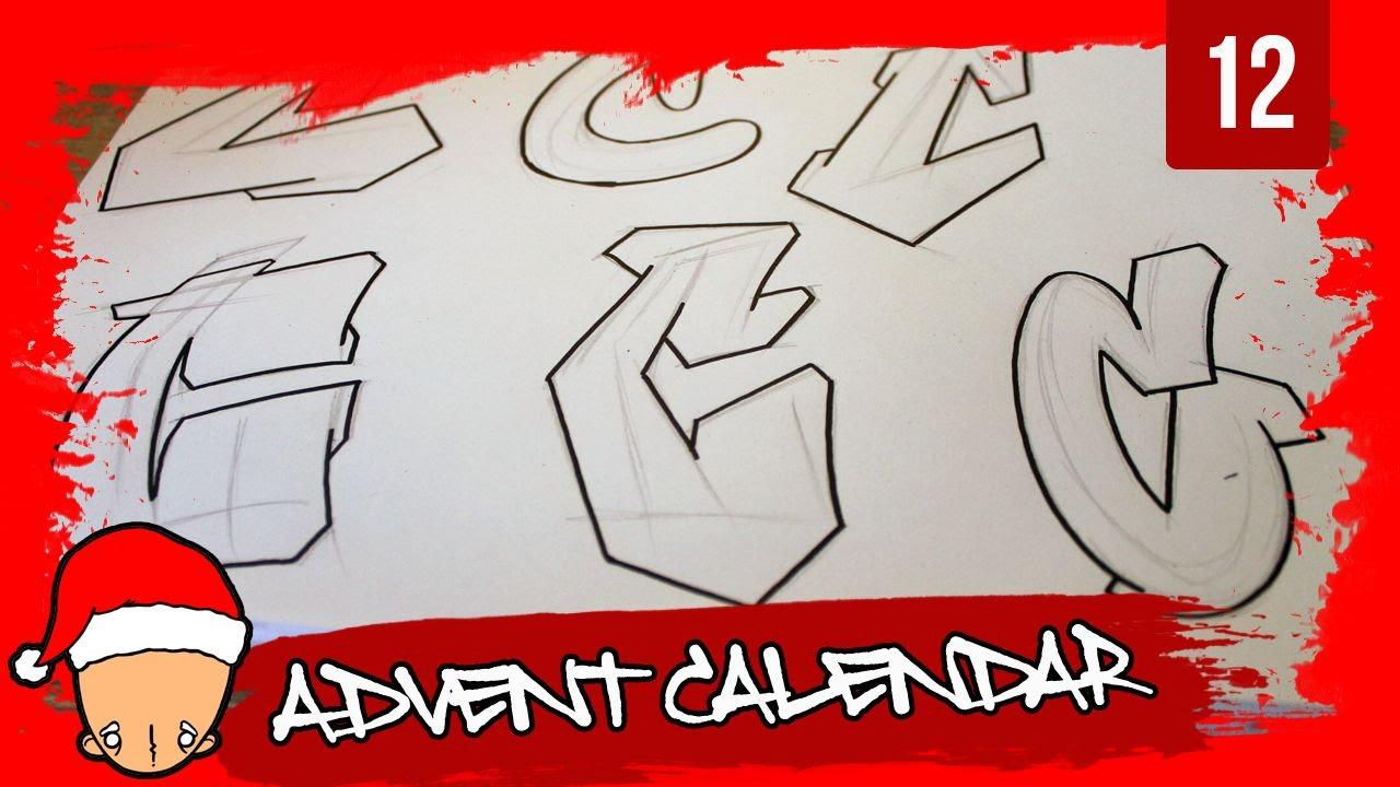Graffiti alphabets letter c buchstabe c letra c 12th door