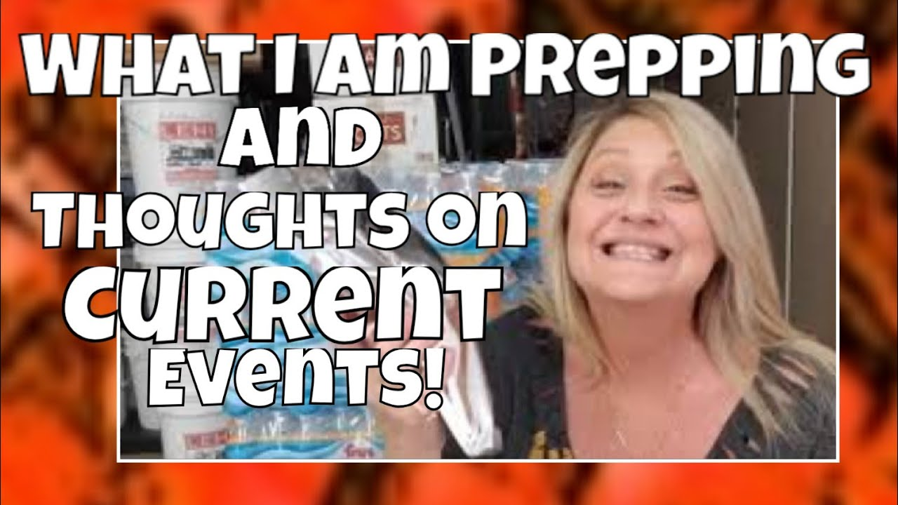 Preppers Chit Chat: Current events, Food Storage, Water Purification