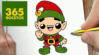 Como Dibujar Elfo Navidad Kawaii Paso A Paso Dibujos Kawaii
