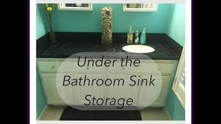 Under The Bathroom Sink Storage
