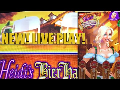 NEW GAME! Heidi's Bier Haus Slot Machine Bonus-LIVE PLAY - 동영상