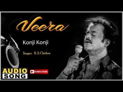 Konji Konji Song | Veera Tamil Movie | Rajinikanth | Meena | Roja | Ilayaraja | Music Master
