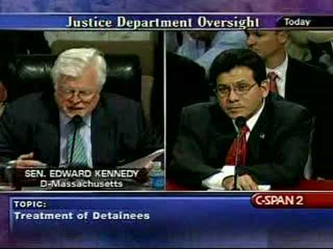 Senate Judiciary Committee w/Alberto Gonzales-7/24/07 Pt23 from YouTube · Duration:  9 minutes 24 seconds