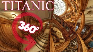 Gambar cover 360° Experience Inside the TITANIC Part.1 Deck A&B  8K Virtual Tour Panoramas (Honor and Glory DEMO)