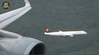 CLOSE CATCH! Stunning A321 & A320 parallel approach into Frankfurt RWY 25C and 25R! [AirClips]
