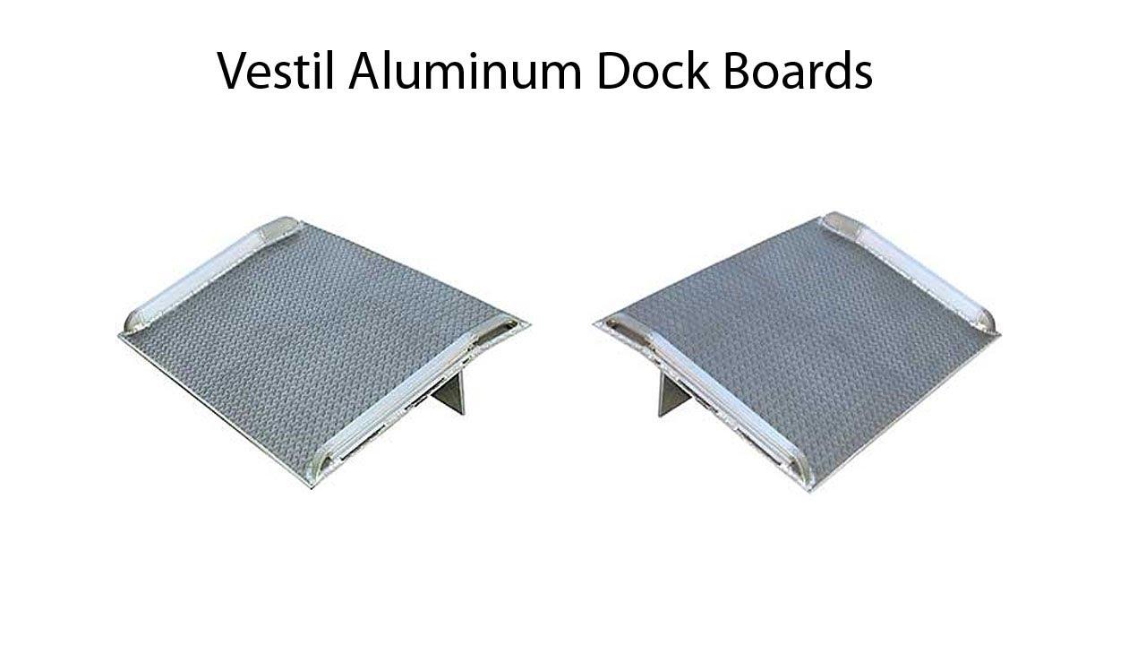 Vestil BTA-09006054 Aluminum Truck Dockboard 9000 lb Silver Capacity 60 x 54