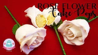 How to make a Rose Flower Cake Pop | Abbyliciousz The Cake Boutique