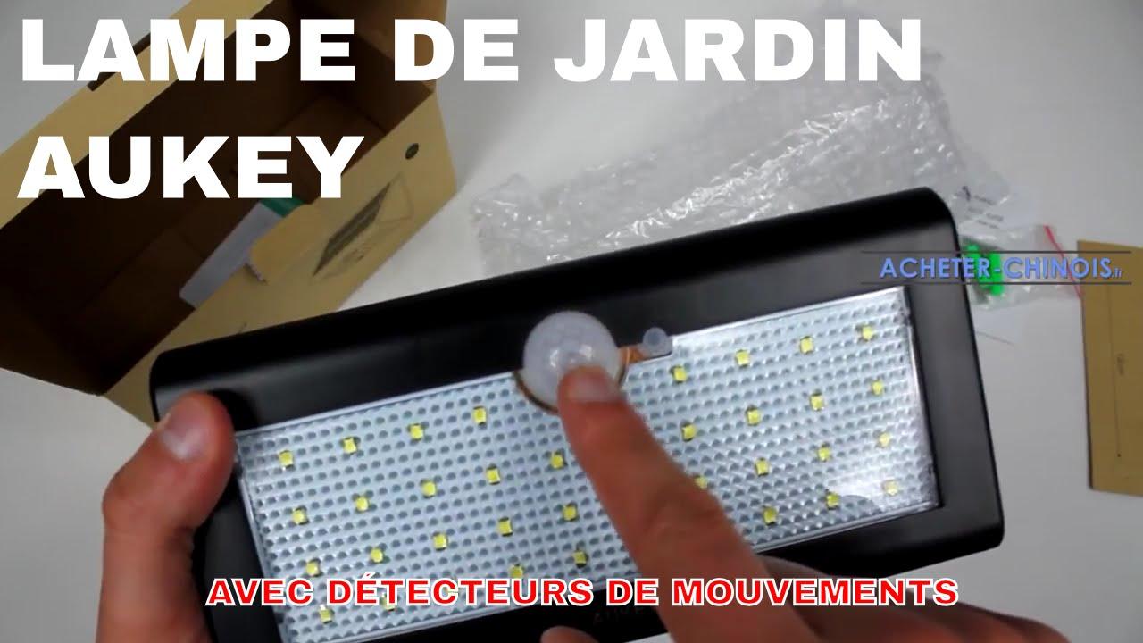 🌼 LAMPE DE JARDIN AUKEY À 38 LED AVEC DÉTECTEUR DE MOUVEMENTS 🌵