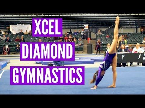 Megan and Ciera's Xcel Diamond Gymnastics Meet 2017