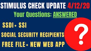 Stimulus checks update and frequently asked questions especially about social security recipients, ssi, ssdi, new web portal get my payment appsofi inves...