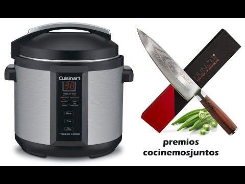 premios cocinemosjuntos. Sorteo de olla de presion y cuchillos
