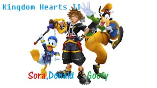 Sora, Donald and Goofy count-Kingdom Hearts II: Final Mix