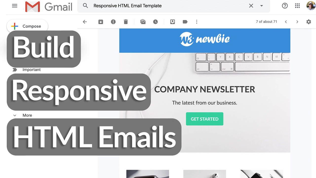 Use the template email.html as is. Build Responsive Html Email Templates With Html Tables Css Summary Networks
