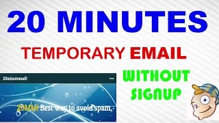How to make 20 min temporary mail address without any sighup process