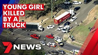 Young girl killed in truck accident in Western Sydney, another survives being struck by car | 7NEWS