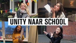#33 UNITY: EERSTE REACTIE OP SCHOOL 📚 | JUNIOR SONGFESTIVAL 2020 🇳🇱