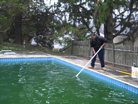 Pool Green To Clean Not Opened In 2 Years Youtube