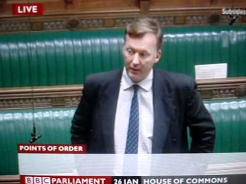 Sir Alan Haselhurst in action - house of commons