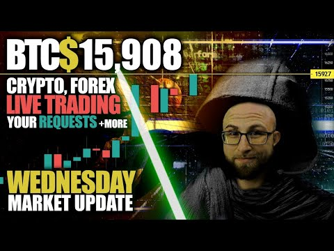 #BreakingBitcoin Market Analysis!🔴 Crypto & FOREX Live!🔴Wednesday Market Update!