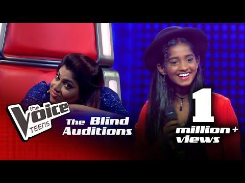 Sashini Dinali   Rosa Malakui (රෝස මලකුයි)   Blind Auditions  The Voice Teens Sri Lanka