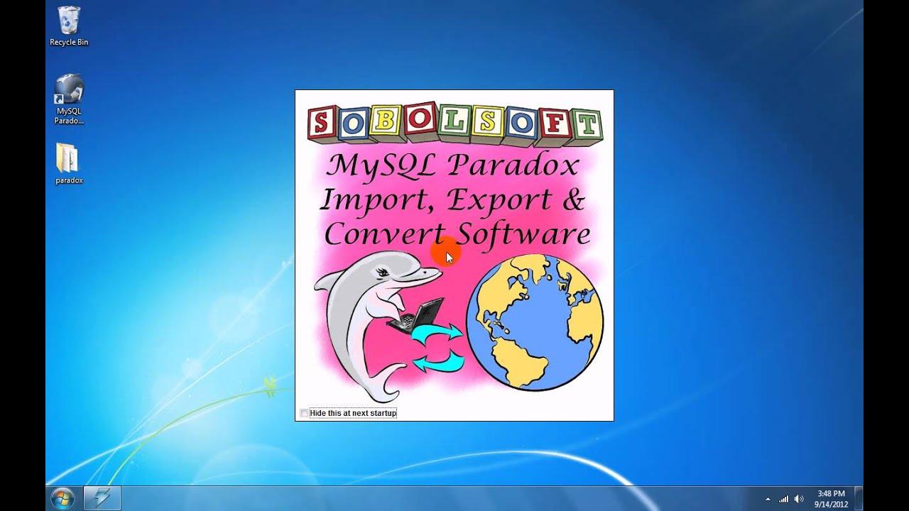 Sobolsoft Paradox To Ms Sql Server Conversion V7.0 | 2 ...
