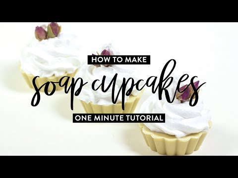 How To Make A Soap Cupcake | One Minute Tutorial