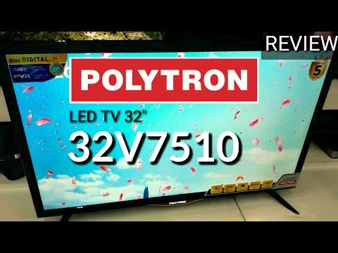 REVIEW LED POLYTRON 32V7510 DIGITAL TV indonesia HD