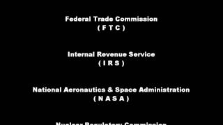 Alphabet Agencies of the US Federal Government