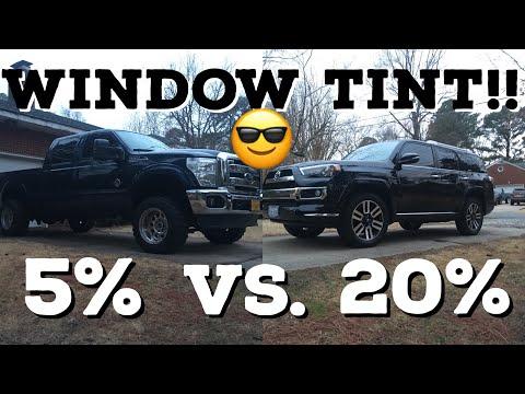 WINDOW TINT!! 5% vs. 20% vs Factory