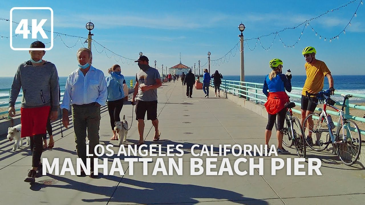 [4K] MANHATTAN BEACH - Walking Manhattan Beach, South Bay, Los Angeles, California, USA - 4K UHD