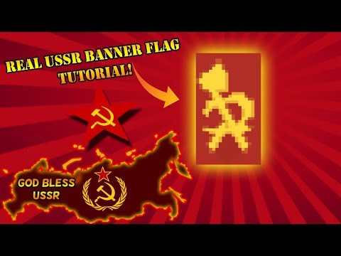 Minecraft Banner Tutorial - How To Craft Our REAL USSR Flag Banner
