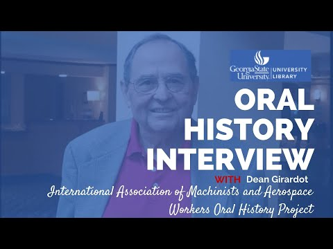 Dean Girardot oral history interview, 2012-08-13