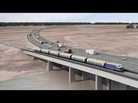 3D Rendiation of The 2nd Niger Bridge, Onitsha, Nigeria