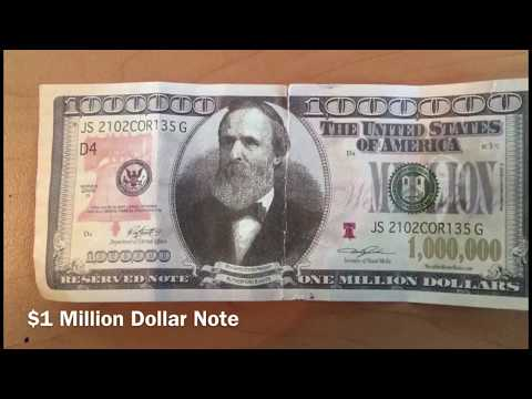 $1 Million United States Dollar Note (USD 1,000,000.00) - Real Or Not Real?